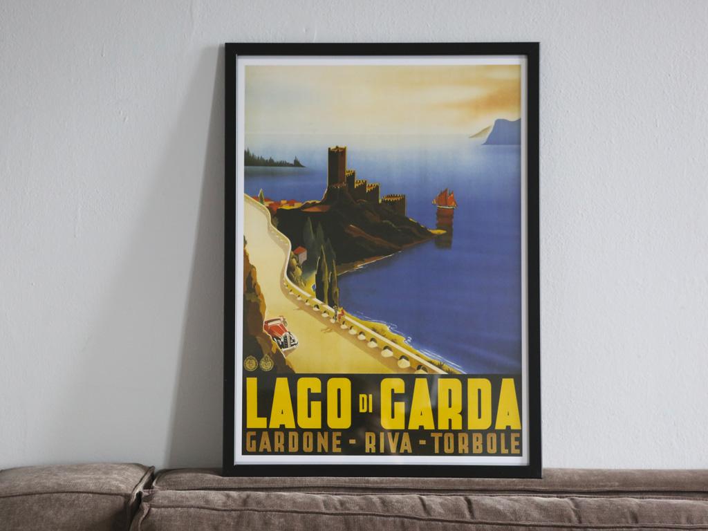 Garda Lake Vintage Reproduction